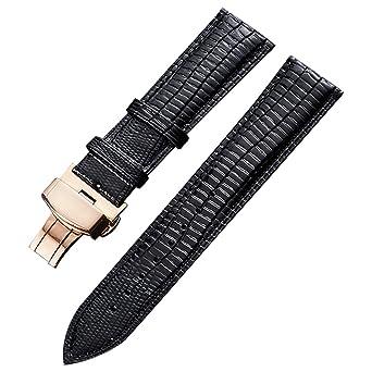 Véritable 20mm Hommes Et Diamètre En Bracelet Cuir Montre Pour vnNm80w