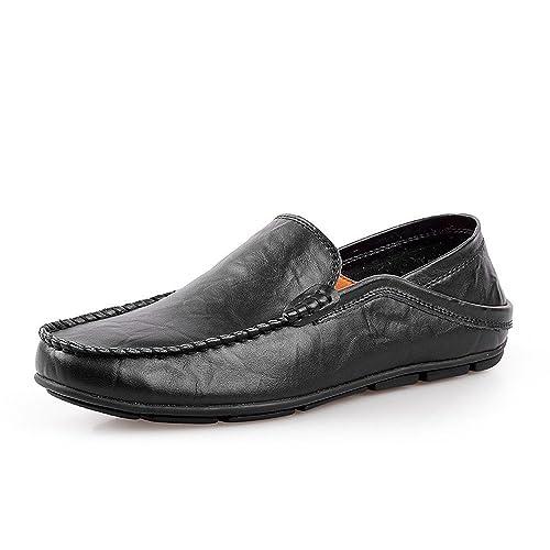 63df60af7d95a Amazon.com   Gobling Men's Driving Penny Loafers Bare Vamp Slip-on ...