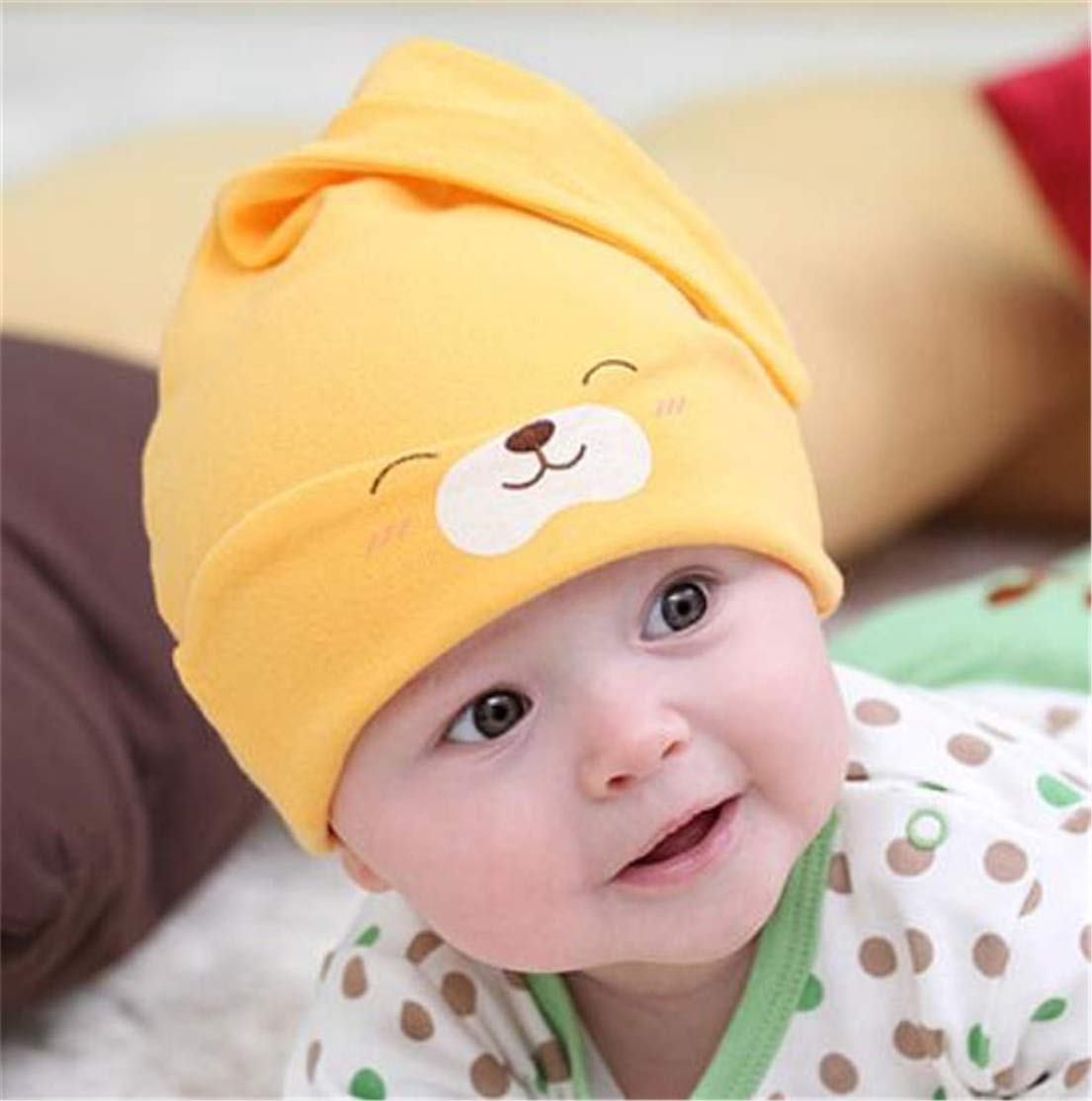 Heyuni.Newborn Hats For Girls Soft Cotton Infant Baby Beanie Hospital Cap