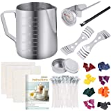 Sntieecr 113 PCS Candle Making Kit with 8 Colors Wax Candle Dye, 550ml Candle Pouring Pot, Candle Wicks, Candle Wicks…
