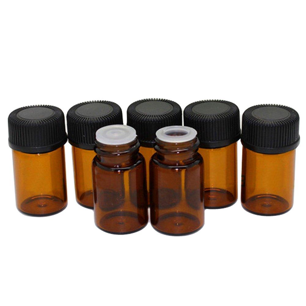 TININNA 2 ml á mbar botella de vidrio para aceites esenciales con tapas, 24 Pcs