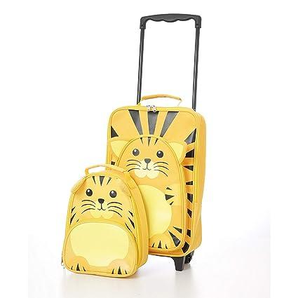 Juego de Equipaje Infantil (Tigre Trolley y Mochila)