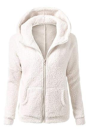 design de qualité f4349 655bb Veste Polaire Zippé Sweat-Shirt à Capuche Manteau Hoodie Chaud Automne  Hiver Tops Pullover Manche Longue Sweat Manteau Fleece Casual