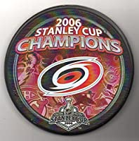 Carolina Hurricanes 2006 Stanley Cup Champions Official NHL Puck + FREE Puck Cube