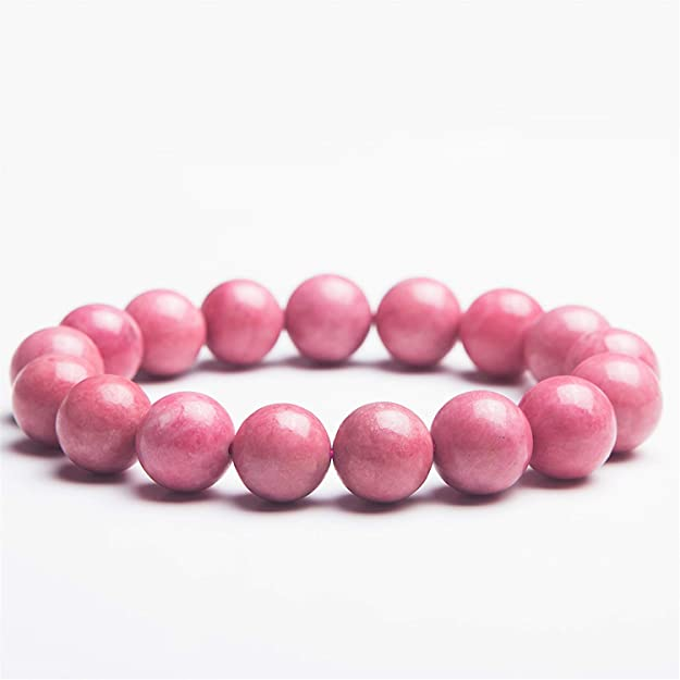 Rhodochrosite Jewelry Rhodochrosite Round Beads Rhodochrosite Gemstone Beads Natural Rhodochrosite Bracelet