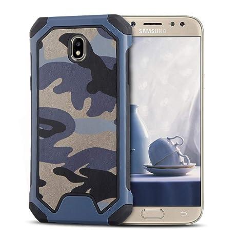 MOEVN Armor Funda para Samsung J7 2017, Galaxy J7 2017 Carcasa Camuflaje PC + TPU 2 en 1 Silicone Cover Protección Duro Caso Choque Amortiguador ...