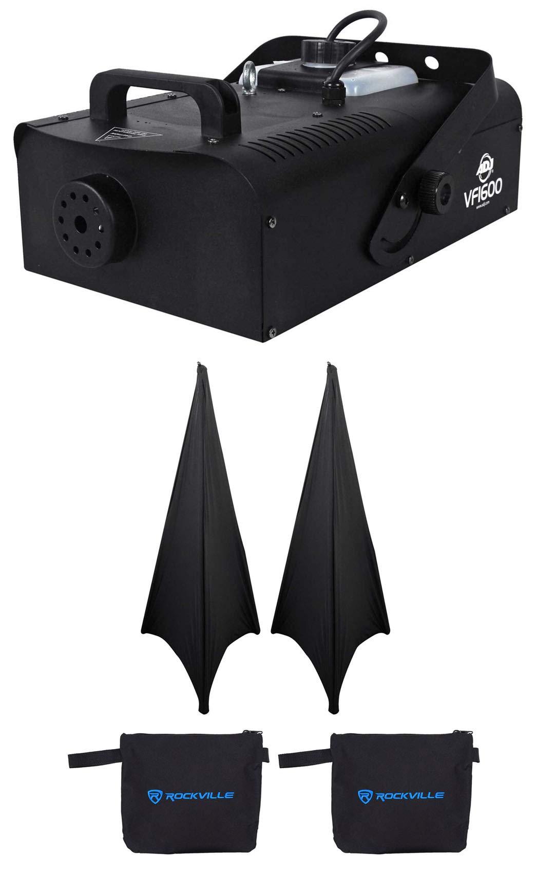 American DJ VF1600 Mobile DMX Fog Machine W/Wired & Wireless Remotes+(2) Scrims