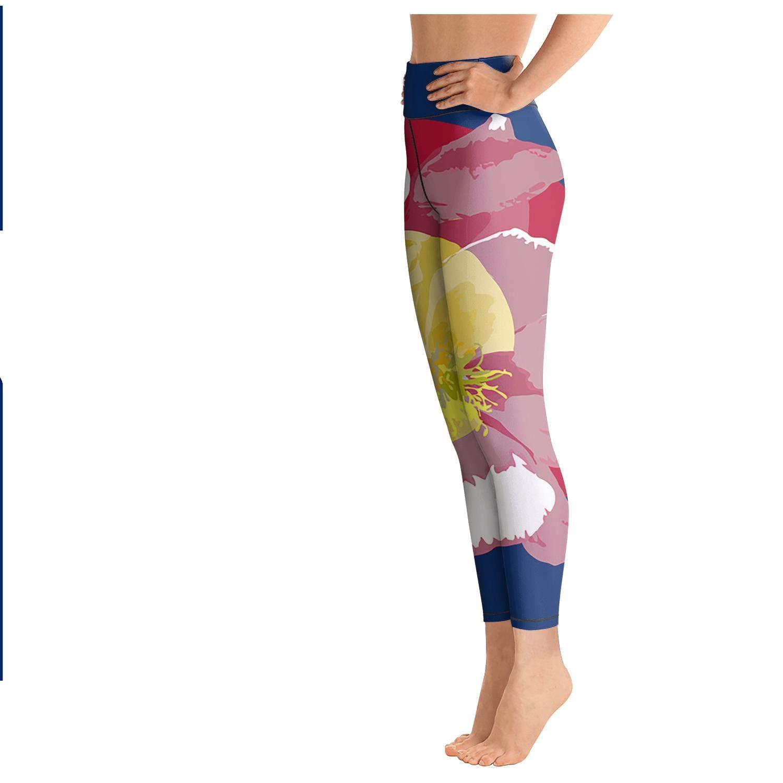 rftgjyj Colorado State Flag Poster Women Cute Leggings Yoga Clothes Pants Leggin Sweat-Absorbent Soft Yoga Pants for Women