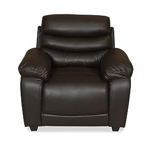 @home by Nilkamal Beauty Single Seater Sofa (Chocolate)