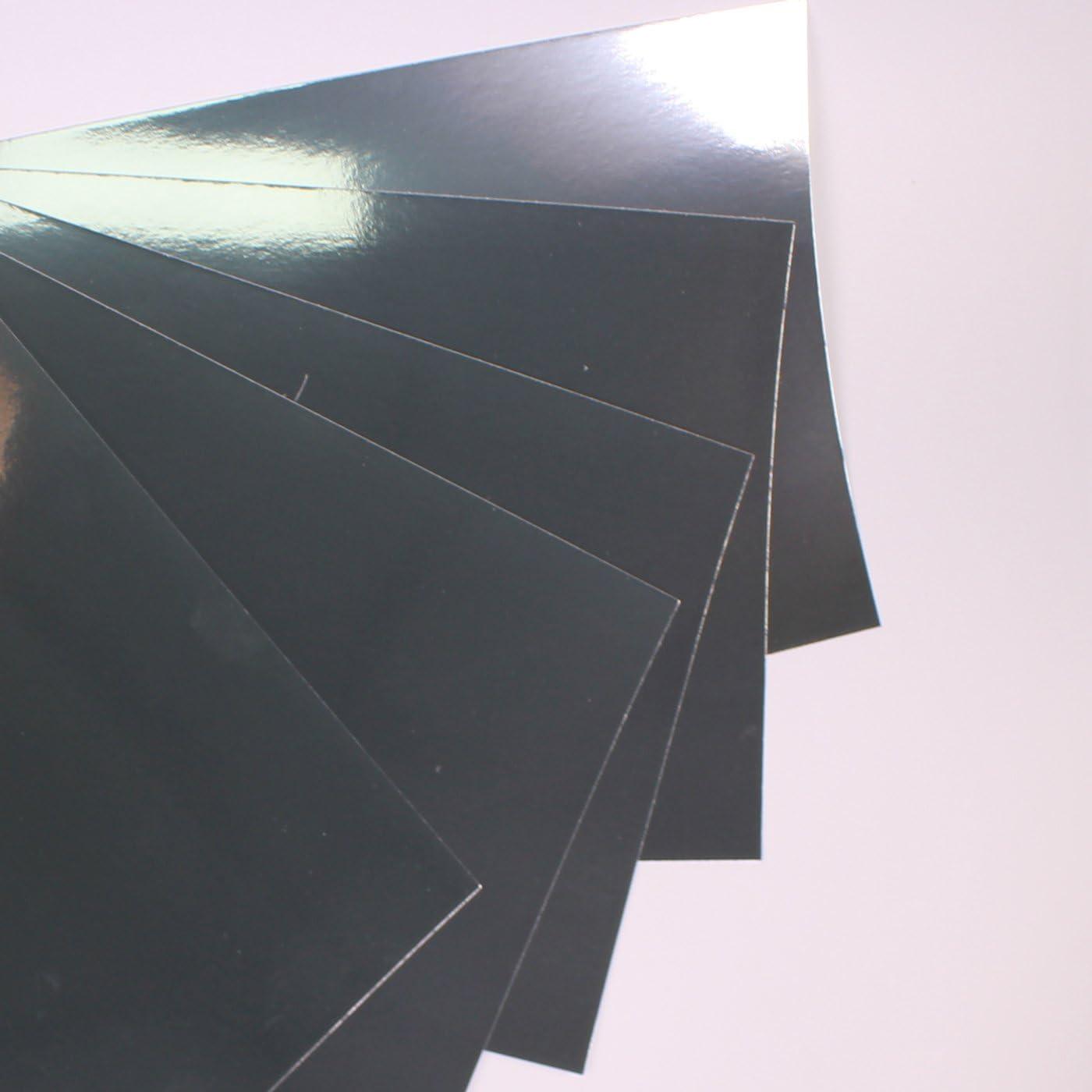 self adhesive blue and silver 5 sheets A4 metallic//mirri card