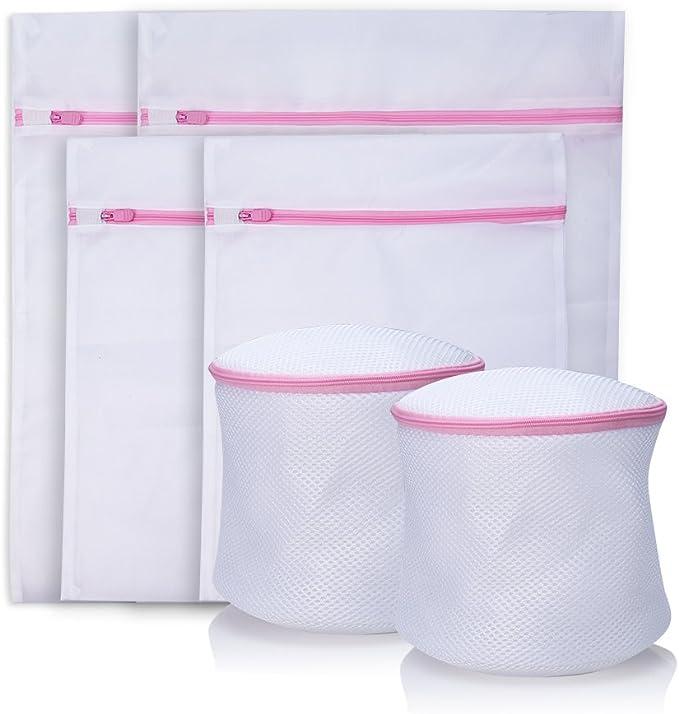 [Lot de 6] Filet à Linge Cherbell Sac à Linge Sac à Lavage Avec Fermeture Eclair Pour Protéger Vos Vêtements