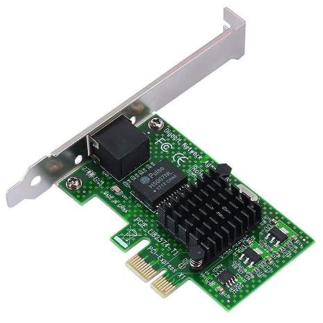 Yoidesu Tarjeta de Red PCI-E Gigabit, Tarjeta de Red 10/100 ...