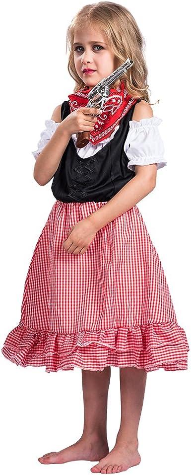 EraSpooky Disfraz Vestido Linda de Vaquera Juego de rol Vaquera ...