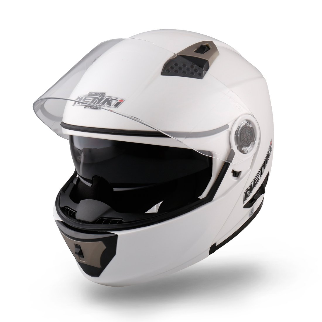 NENKI NK-860 Motorbike Helmet Motorcycle Moped Scooter Flip Up Modular Crash Helmets S, Hi Viz