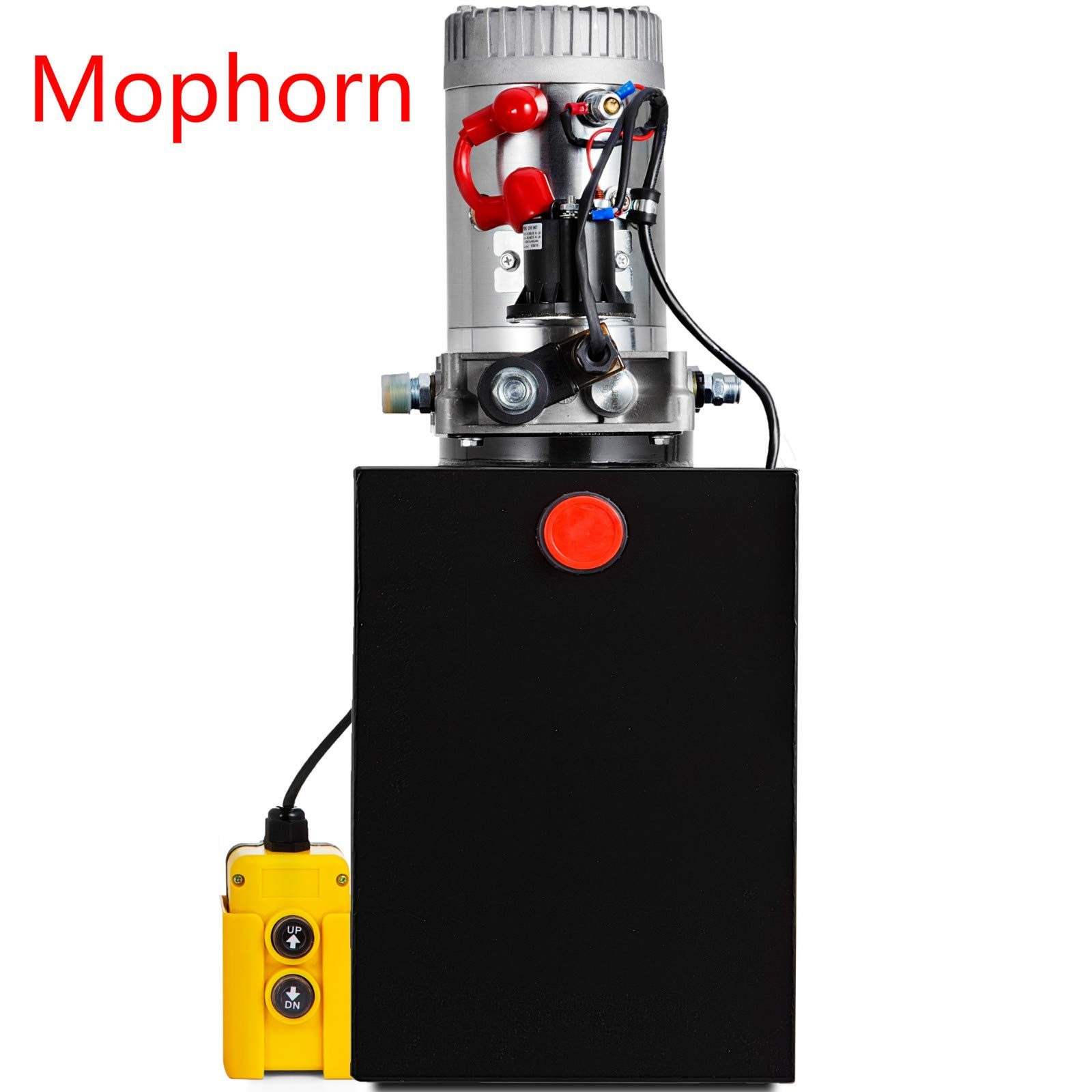 Mophorn 12V Single Acting Hydraulic Pump with 13 Quart Steel Reservoir, 3200PSI Hydraulic Power Unit with Control Remote to Lift Dump Trailer Tipper Trailer Gates Tow Trucks Car Haulers Wreckers