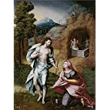 high quality polyster Canvas ,the Vivid Art Decorative Canvas Prints of oil painting 'Vallejo Cosida Jeronimo Vicente Noli me tangere Ca. 1570 ', 24 x 32 inch / 61 x 82 cm is best for Kids Room decoration and Home gallery art and Gifts