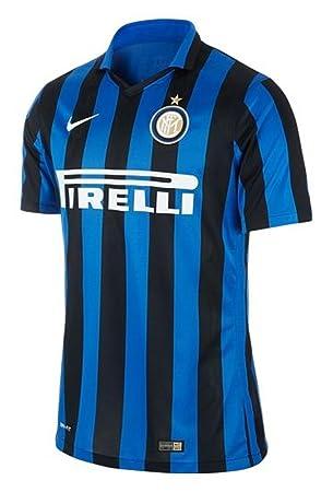 new styles 53746 e3696 NIKE Mens Inter Milan Home Stadium Jersey [Black]