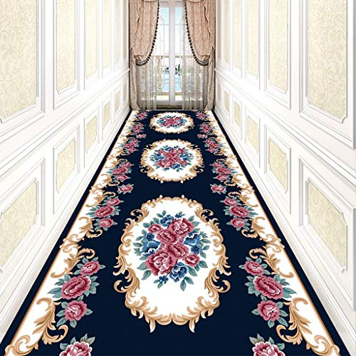 - SMJZCGY Long Carpet Can Cut The Entrance Hall Entrance Cushion European Aisle Stairs Anti-Slip Mat Full Shop Hotel Corridor Living Room Carpet (Color : DT-040, Size : 1×4 m)