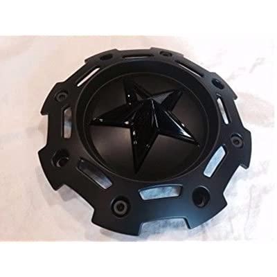 XD SERIES KMC 811 Rockstar 2 Matte Black w Black Star Center Cap SC-198 SC-190: Automotive