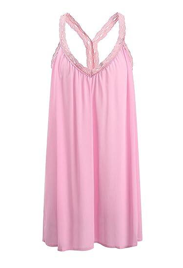 Vestidos Mujer Verano Cortos Playa Elegantes Gasa Encaje Sin Mangas Vestido Boho Casual Color Solido Niña