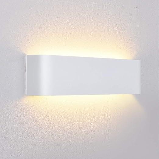 Louvra 12W Apliques de Pared LED Lámpara de Pared Interior Pasillo, Escalera, Blanco Cálido: Amazon.es: Iluminación