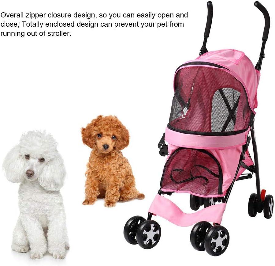 Folding Pet Travel Stroller Cat Dog Pushchair Trolley Pram Jogger Buggy Dog Carrier for Outdoor Travel with 4 Wheels AYNEFY Pet Pushchair