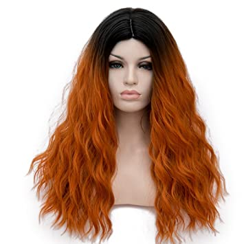 Amazon Com Amback Long Dye Dark Roots Wig Cosplay Halloween Wigs