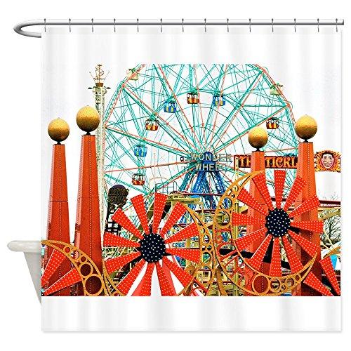 CafePress Coney Island: Wonder Wheel Shower Curtain Decorative Fabric Shower Curtain (69