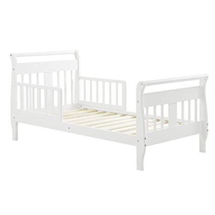 low priced 539d8 f6154 Baby Relax Sleigh Toddler Bed White: Amazon.in: Electronics