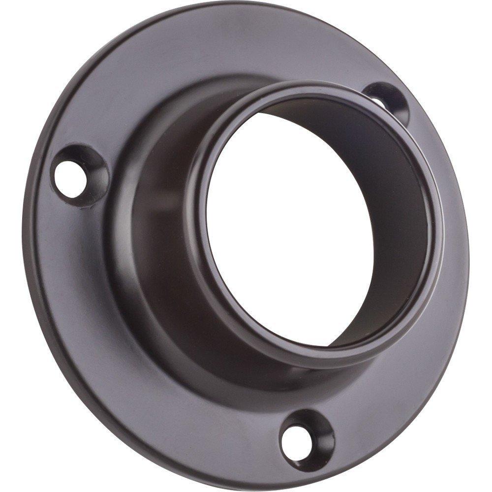 Closed Screw In Closet Rod Mounting Bracket for 1-5/16 Inch Diameter Closet Rods (8, Dark Bronze)