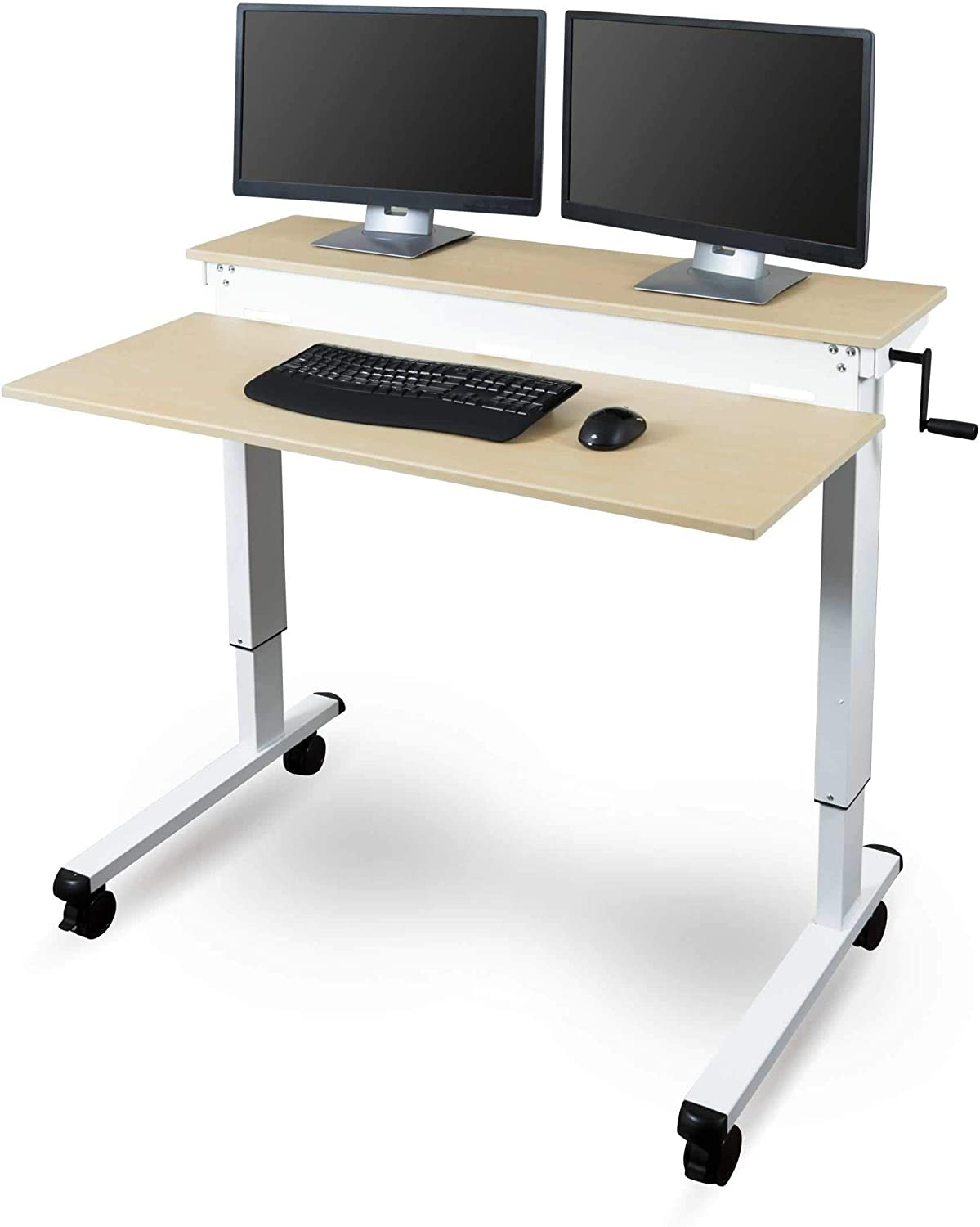 - Amazon.com: Stand Up Desk Store Crank Adjustable Sit To Stand Up