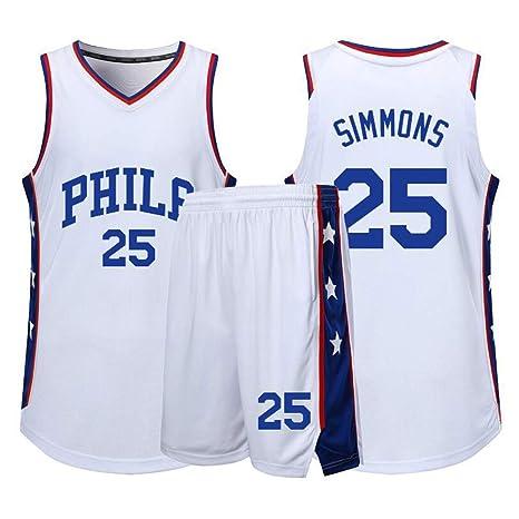 Philadelphia 76Ers # 25 Ben Simmons Baloncesto Sin Mangas Clásico ...