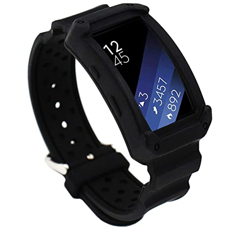El-move Sangle Bracelet de montre bracelet de remplacement en silicone pour Samsung Gear Fit