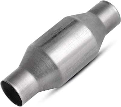 """High Flow Catalytic Converter STND Universal-fit inlet//outlet 2.25"""" 2 1//4"""" pipe"""