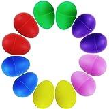 ISusser Plastic Ball Percussion Music Maracas Egg Kids Toys, 12 pcs, 6 color