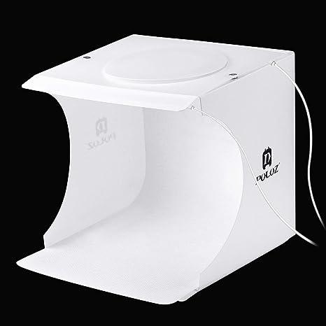 Caja de luz Plegable portátil con 2 Paneles LED para Estudio ...