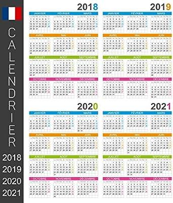 Calendario 2021 Con Festivita Da Stampare.Calendario Del Muro Francese Di 2018 2019 2020 2021 Giorni E