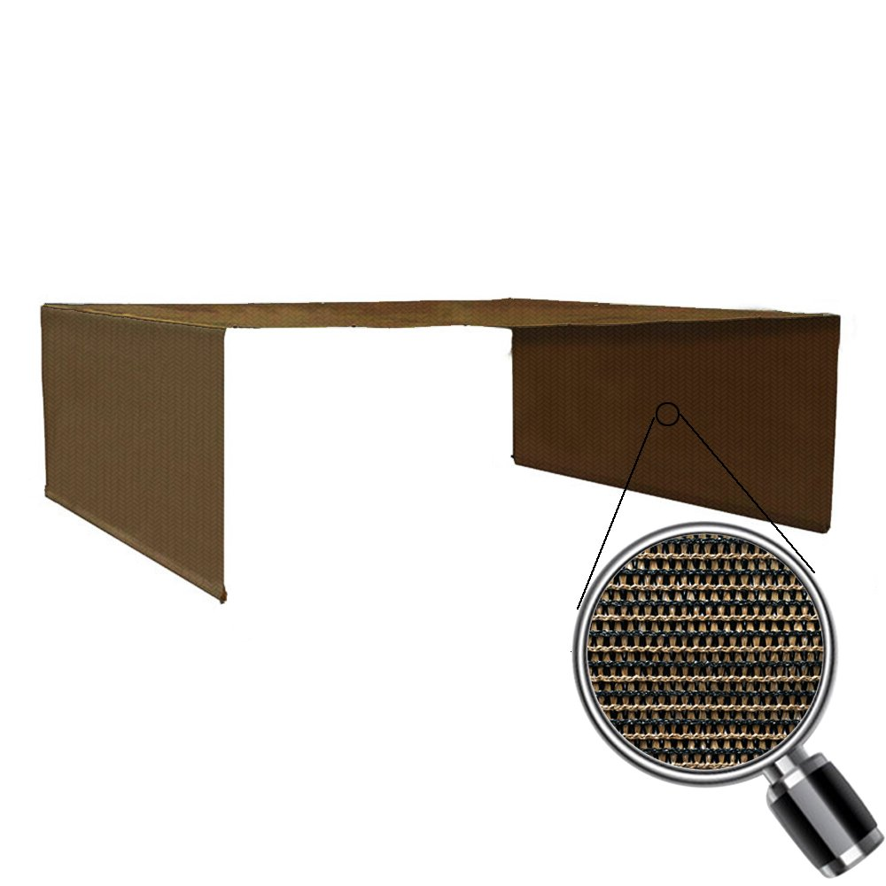Alion Home Custom HDPE Permeable Canopy Sun Shade Cover Replacement with Rod Pockets for Pergola (14' x 10', Mocha Brown)