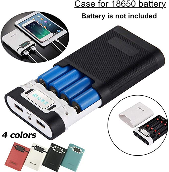 Lightly 4 Slot 18650 Battery LCD Intelligent Charger Power Bank For Mobilephone