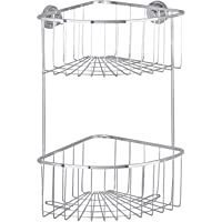 WENKO Power-Loc® Bovino Hoekrek, 2 etages, roestvrij staal, 26 x 35 x 18,5 cm, glanzend