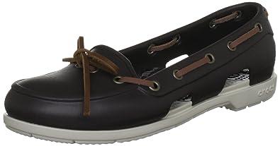 Crocs Beach Line Boat Shoe Women, Femme Chaussures, Marron (Espresso/Stucco), 41-42 EU