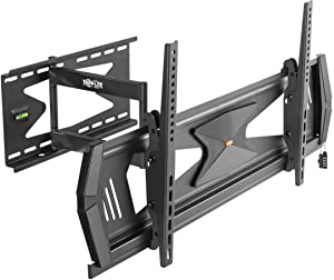 """Tripp Lite Full Motion TV Wall Mount for 37"""" to 80"""" TVs, Flat or Curved, Security TV Mount, Anti-Theft Steel Security Bar, 88 lb. Capacity, UL Certified, (DWMSC3780MUL)"""