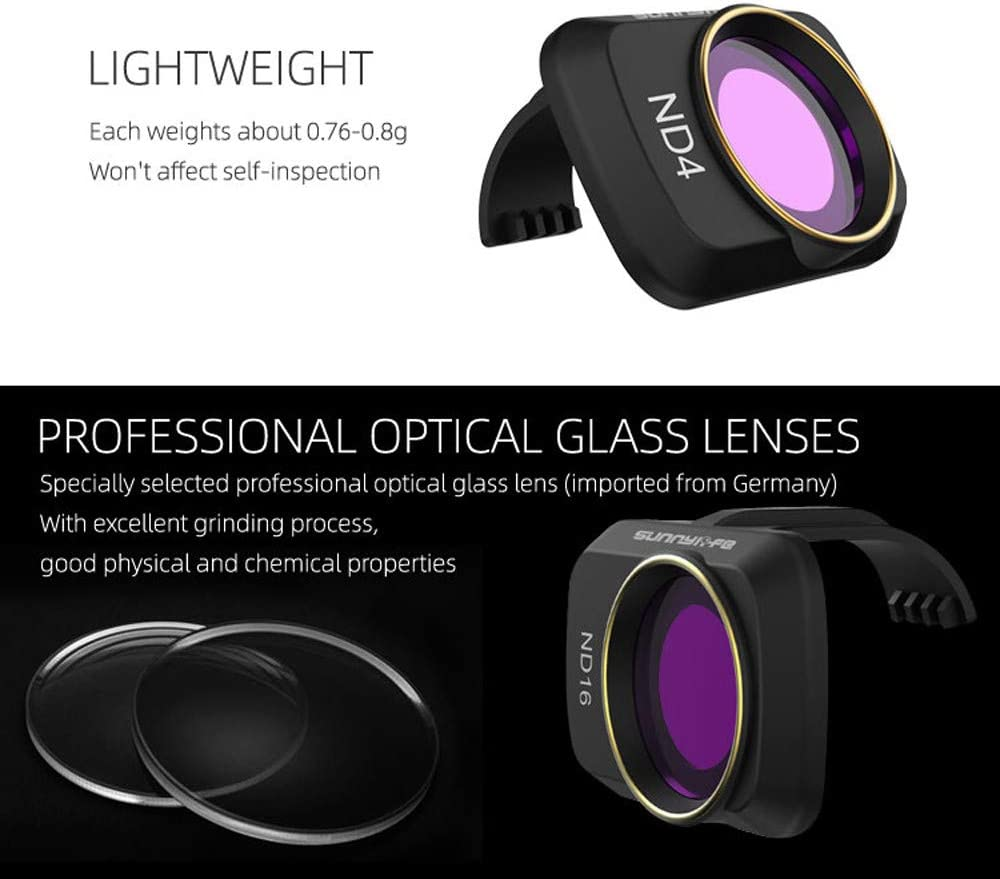 MCUV CPL ND//PL 4//8//16//32 Professional Optical Glass Lens ND32//PL Vkarh Gimbal Lens Filter for DJI Mavic Mini Drone