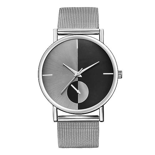 Gusspower Reloj Analógico de Cuarzo para Mujer, con Correa de Acero Inoxidable (Plateado): Amazon.es: Relojes