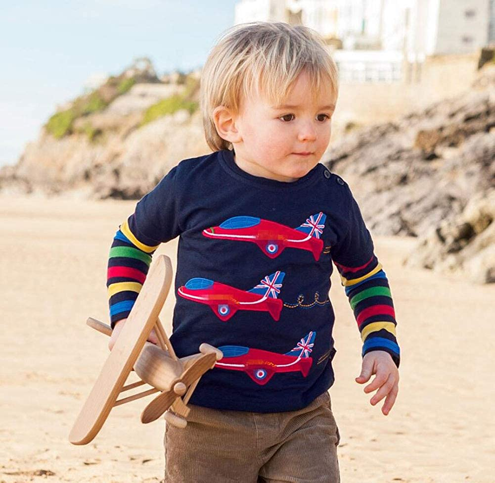 ZETIY Toddler Little Boys Chromatic Airplane Tees Shirts Tops