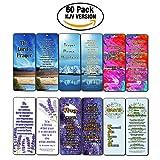 Christian Prayer Inspirational Bookmarks Cards KJV (60-Pack) - The Lord's Prayer King James Version- Prayer Cards for Prayer Journal Book - Bible - Powerful War Room Decor