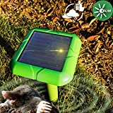 1 : VENSMILE Solar Powered Mole Repeller Gopher Vole Repellent Outdoor Rodent Animal Trap Waterproof