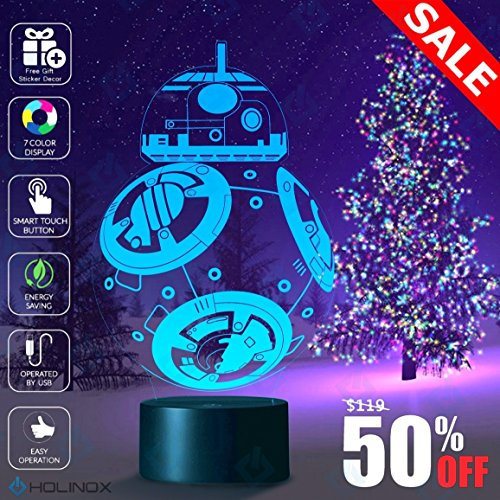 Holinox Star Wars BB-8 Lighting Gadget Lamp and Sticker Set - Picture App Reflection