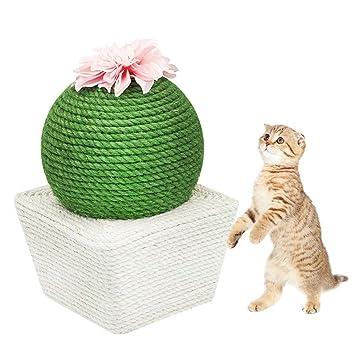 chivalrylist Gato Rascador de Cactus con Bola, Rascador para Gatos ...
