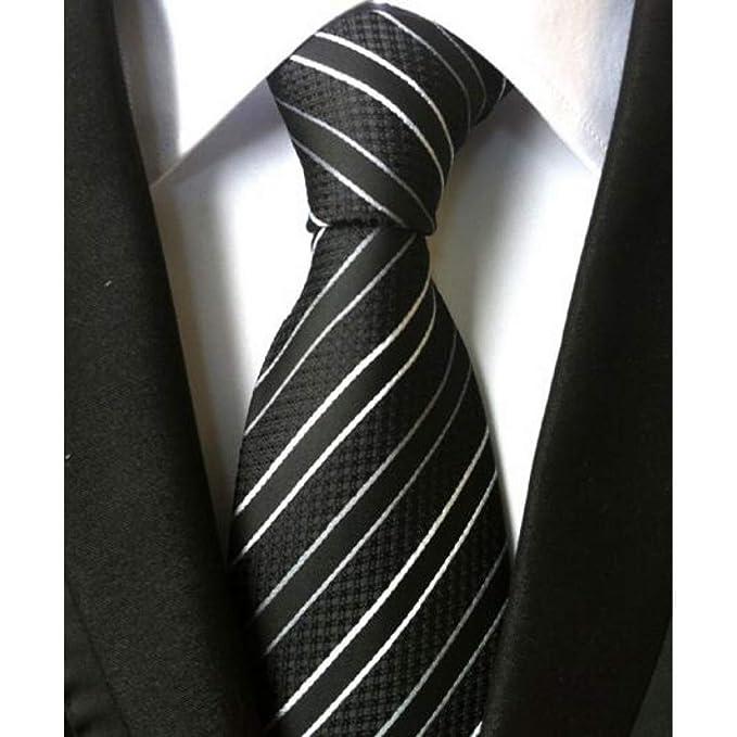 DYDONGWL Corbata Fina Hombre,Moda Moda Corbata de Seda de Rayas ...